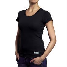 Černé tričko s krátkým rukávem a logem