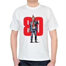Pánské bílé triko s ilustrací Havla a 80