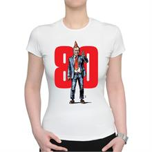 Dámské bílé triko s ilustrací Havla a 80