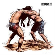 Ilustrace z titulní strany Respektu 23/2013