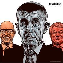 Ilustrace z titulní strany Respektu 44/2013