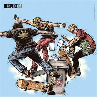 Ilustrace z titulní strany Respektu 42/2013