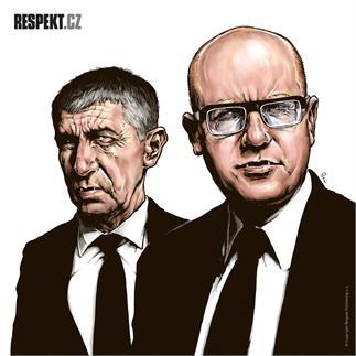 Ilustrace z titulní strany Respektu 17/2014