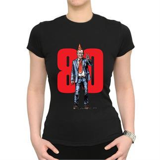 Dámské černé triko s ilustrací Havla a 80