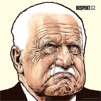 Ilustrace z titulní strany Respektu 10/2013