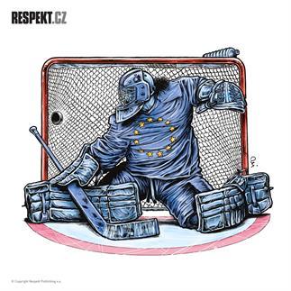Ilustrace z titulní strany Respektu 23/2014