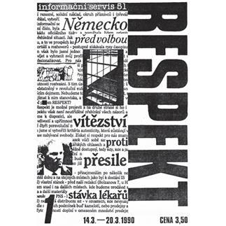 Reprint prvního vydání Respektu z roku 1990