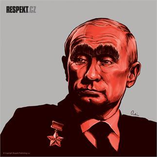 Ilustrace z titulní strany Respektu 11/2014