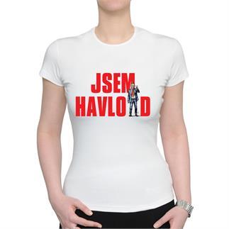 Dámské bílé triko s nápisem JSEM HAVLOID