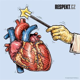 Ilustrace z titulní strany Respektu 8/2013