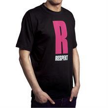 "Černé tričko s krátkým rukávem ""RŮŽOVÉ R"""