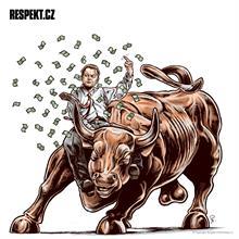 Ilustrace z titulní strany Respektu 04/2014
