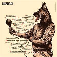 Ilustrace z titulní strany Respektu 41/2013