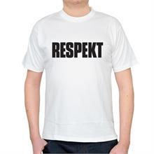 Pánské bílé triko s nápisem Respekt