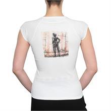 "Bílé tričko s krátkým rukávem ""Chaplin"""