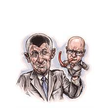 Ilustrace z titulní strany Respektu 43/2016