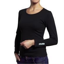 Černé tričko s dlouhým rukávem a logem