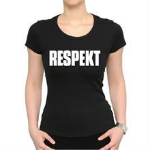 Dámské černé triko s nápisem Respekt