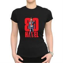 Dámské černé triko s nápisem 80 HAVEL a ilustrací