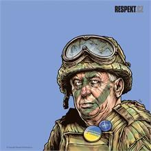 Ilustrace z titulní strany Respektu 16/2014