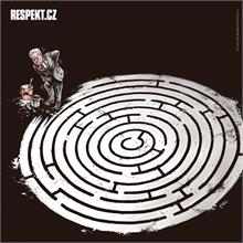 Ilustrace z titulní strany Respektu 46/2013