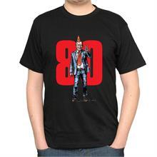 Pánské černé triko s ilustrací Havla a 80