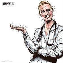 Ilustrace z titulní strany Respektu 10/2014
