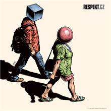 Ilustrace z titulní strany Respektu 34/2013