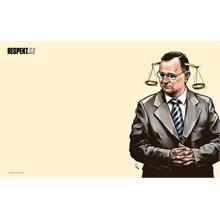Ilustrace z titulní strany Respektu 28/2012