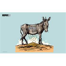 Ilustrace z titulní strany Respektu 29/2012