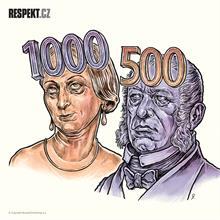 Ilustrace z titulní strany Respektu 30/2014