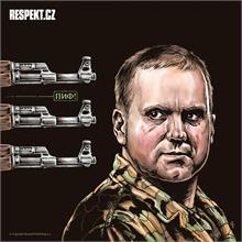 Ilustrace z titulní strany Respektu 20/2014