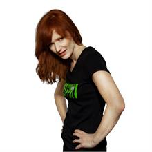 """Černé tričko s krátkým rukávem """"MATRIX"""" v zelené barvě"""