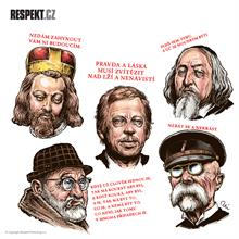Ilustrace z titulní strany Respektu 50/2013
