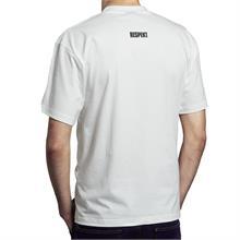 Bílé tričko do V s krátkým rukávem a logem