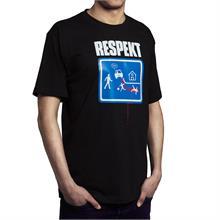 """Černé tričko s krátkým rukávem """"ZNAČKA"""""""