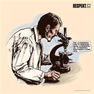 Ilustrace z titulní strany Respektu 40/2013