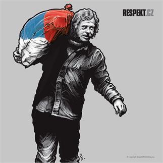 Ilustrace z titulní strany Respektu 21/2013