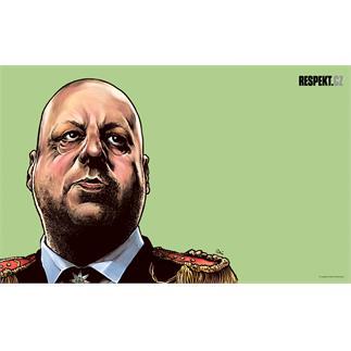 Ilustrace z titulní strany Respektu 33/2012