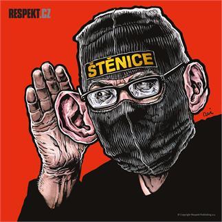 Ilustrace z titulní strany Respektu 27-28/2014