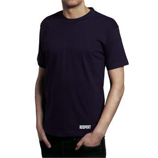 Modré tričko s krátkým rukávem a logem