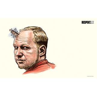 Ilustrace z titulní strany Respektu 48/2012