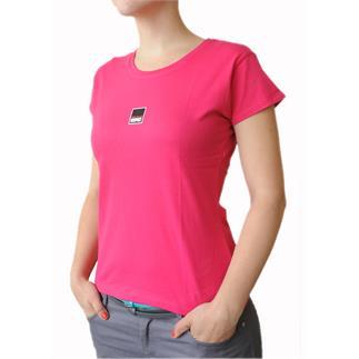 Dámské tričko s krátkým rukávem v barvě Fuchsia