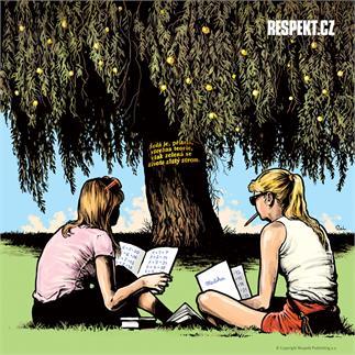 Ilustrace z titulní strany Respektu 22/2013