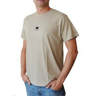 Pánské tričko s krátkým rukávem v barvě pebble