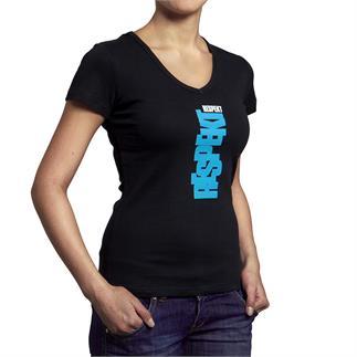 """Černé tričko s krátkým rukávem """"MODRÉ LOGO"""""""