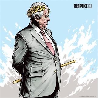 Ilustrace z titulní strany Respektu 27/2013