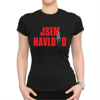 Dámské černé triko s nápisem JSEM HAVLOID