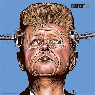 Ilustrace z titulní strany Respektu 30/2013