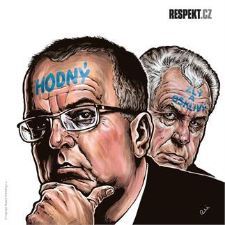 Ilustrace z titulní strany Respektu 29/2013